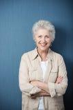 Stylish modern elderly woman stock photography