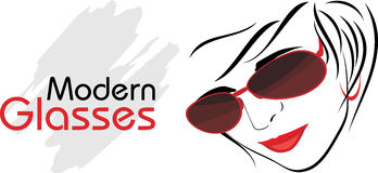 Stylish modern glasses. Icon for design Stock Photography
