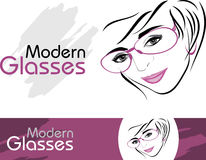 Stylish modern glasses. Icons for design Stock Images