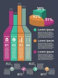 Stylish modern infographics for the design of different projects and your design. Illustration Royalty Free Stock Images