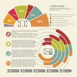 Stylish modern infographics for the design of different projects and your design. Illustration Stock Image