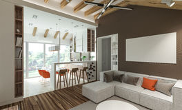 Stylish modern interior of the house Stock Photo