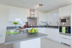 Stylish modern kitchen Stock Image