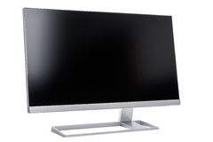 Stylish, modern LCD computer display, rear view Stock Images