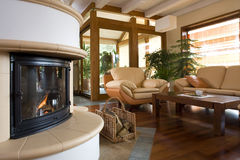 Stylish modern living room. Royalty Free Stock Photography