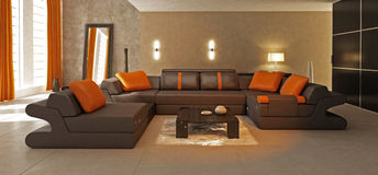 Stylish modern living room Stock Image