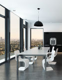 Stylish modern molded dining suite Royalty Free Stock Image