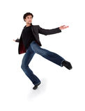 Stylish modern performer dancing Royalty Free Stock Photography