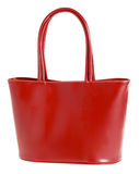 Stylish modern red bag royalty free stock photo