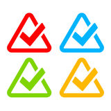 Stylish modern tick symbol. S set Royalty Free Stock Photography
