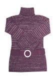 Stylish,modern violet tunic on a white. Royalty Free Stock Photos
