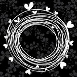 Stylish monochrome frame on a floral background. Maybe an invita Royalty Free Stock Photography
