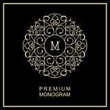 Stylish   monogram , logo in Art Nouveau style Stock Images