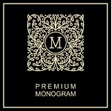 Stylish   monogram ,  logo design in Art Nouveau Royalty Free Stock Photos