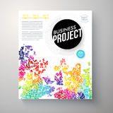 Stylish multicolored Business Project template Stock Photography