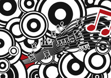 Stylish  Music Background Stock Photography