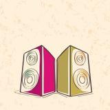 Stylish musical speakers. Royalty Free Stock Photos