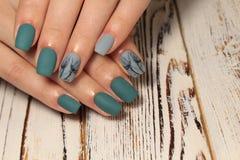 stylish nail design stock images