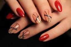 stylish nails manicure stock images