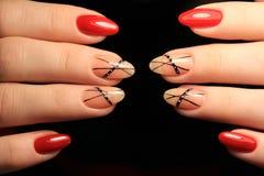 stylish nails manicure royalty free stock photo