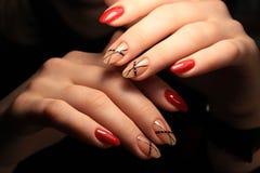 stylish nails manicure royalty free stock image