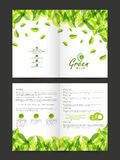 Stylish Nature Flyer or Brochure design. Royalty Free Stock Photography