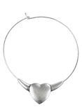 Necklace made of white metal Royalty Free Stock Photos