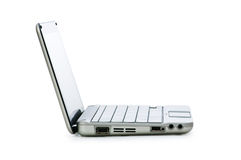 Stylish netbook isolated on the white Stock Photo