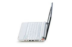 Stylish netbook isolated on the white Royalty Free Stock Images
