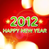 Stylish new year background. Beautiful 2012 happy new year vector background Royalty Free Stock Photos