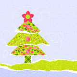 Stylish New Year or Christmas scrapbooking card Royalty Free Stock Image