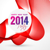 Stylish new year greeting. Stylish 2014 happy new year design Stock Images