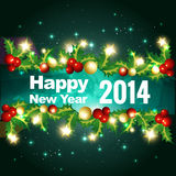 Stylish new year greeting. Stylish 2014 happy new year design Stock Photography