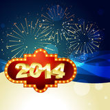 Stylish new year greeting. Vector 2014 happy new year design illustration Royalty Free Stock Image