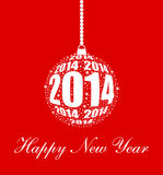 Stylish New Year 2014 Ornament. Design Royalty Free Illustration