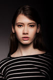 Stylish Nice Young Adult European Model Woman - Stock Image Royalty Free Stock Photo