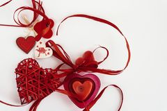 Stylish objects of love for valentines day celebration for a cou. Ple, greeting card concept Stock Photography