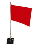 Stylish office bright red flag or red pennant Royalty Free Stock Photos