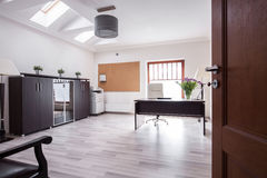 Stylish office in luxury house Royalty Free Stock Photo