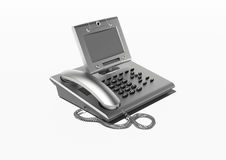Stylish office phone with copyspace Stock Image