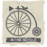 Stylish old bicycle. Vintage bicycle on retro Background Royalty Free Stock Photography