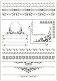 Stylish, old, vintage design elements. Collection of Vintage Vector elements: Floral Borders, Corners, and Frames Royalty Free Stock Images
