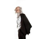 Stylish oldman isolated on white background Royalty Free Stock Photography