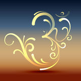 Stylish om symbol. Stylish hindu om symbol vector design Royalty Free Stock Photography
