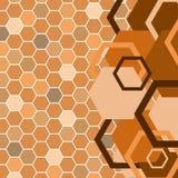 Stylish orange banner Royalty Free Stock Photography