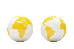 Stylish Orange Globe on white background Stock Image