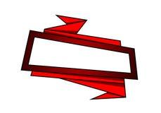 Stylish origami banner. Vector art illustration business stock illustration