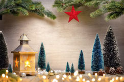 Stylish ornamental Christmas arrangement Stock Photo