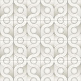 Stylish ornamental interior texture with structure of repeating geometric shapes Stock Photos