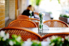 Stylish outdoor cafe Stock Image